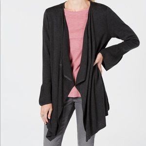 Style&Co Petite Ruffle-Sleeve Cardigan